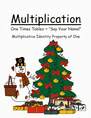 Christmas Multiply By One Multiplication Center Game