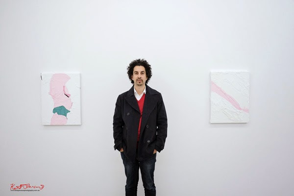 Portrait of Huseyin Sami at the opening of 'The art of ending a conversation' Sarah Cottier Gallery, Photographed by Kent Johnson for Street Fashion Sydney.
