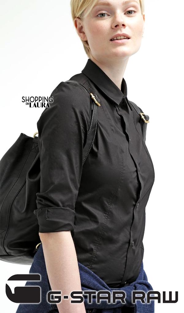 Chemise femme tendance : unie noire G-STAR RAW