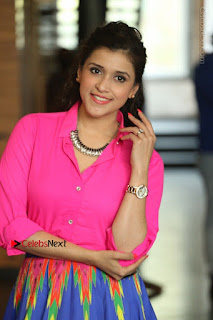 Actress Mannar Chopra in Pink Top and Blue Skirt at Rogue movie Interview  0079.JPG