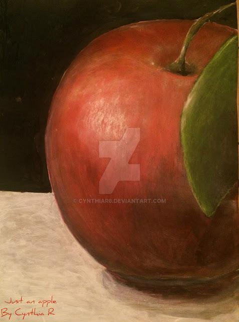 CynthiaR-apple-redapple-acrylics-acrylicpainting-artedonypasion