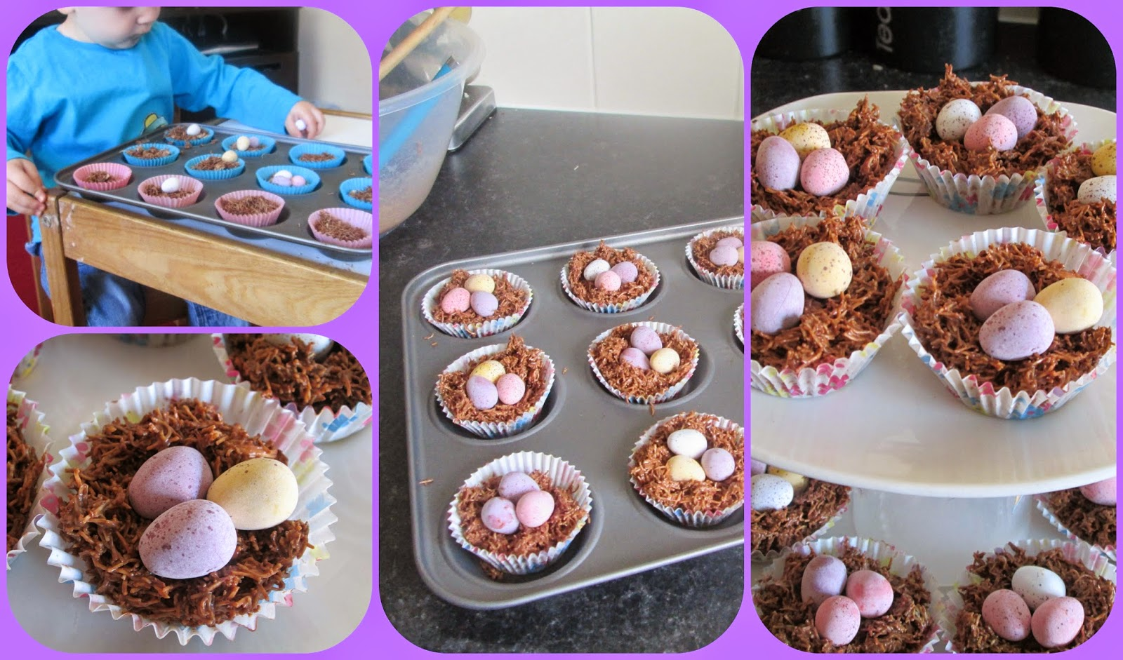 home made easy Easter nests recipe for kids and children