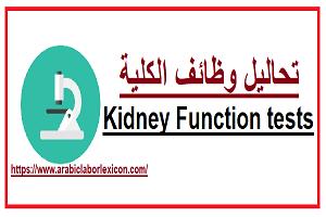 تحاليل وظائف الكلية Kidney Function tests