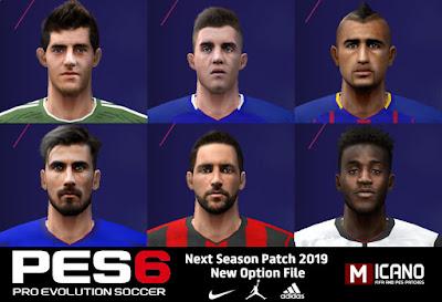 PES 6 Next Season Patch 2019 Option File 13/08/2018 Season 2018/2019