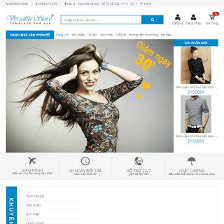 template blogspot bán hàng thời trang mỹ phẩm đẹp
