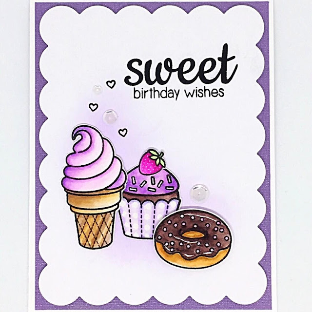 Sunny Studio Stamps: Sweet Shoppe Birthday Card by Andreea Raghina