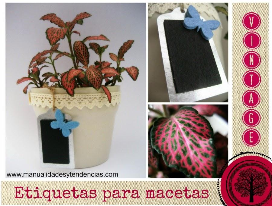 Etiquetas vintage para mecetas / Etiquettes vintages pour pots à fleur