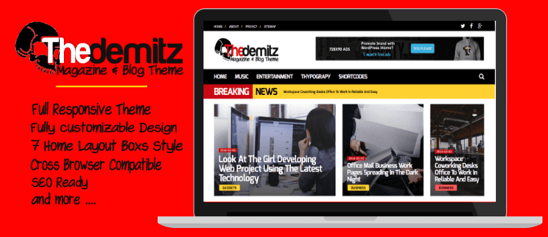 TheDemitz - Magazine And Blog Theme