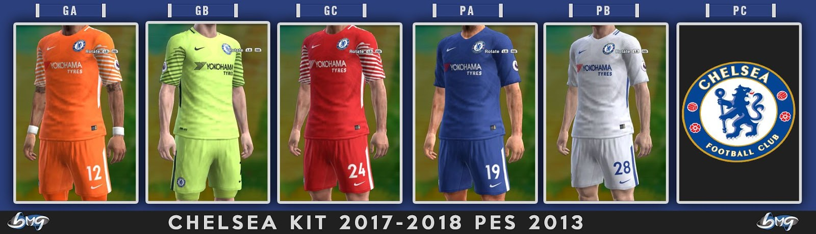 49b83f0a4 PES 2013 Chelsea Full GDB Kits 2017-2018. CREDITS: BMG Kitmaker DOWNLOAD