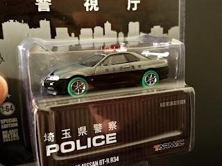 Tarmac Works Japan Police Nissan GT-R R34 skyline