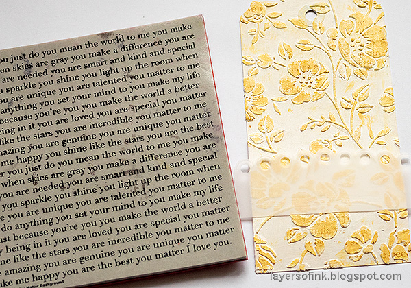 Layers of ink - Multi-Color Embossing Tutorial by Anna-Karin Evaldsson. Stamp the background.