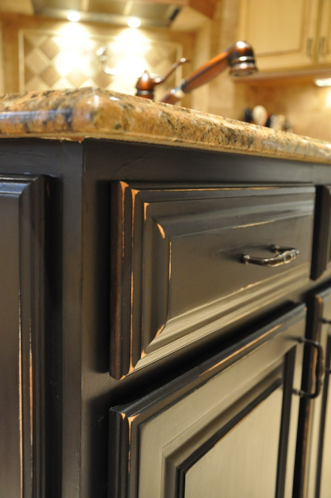 distressed kitchen island candles how to paint a part 1 evolution of style there are couple spots that more than i d like but some brilliant readers suggested touching it up with black stain