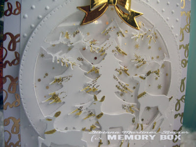 christmas eve card in white detail