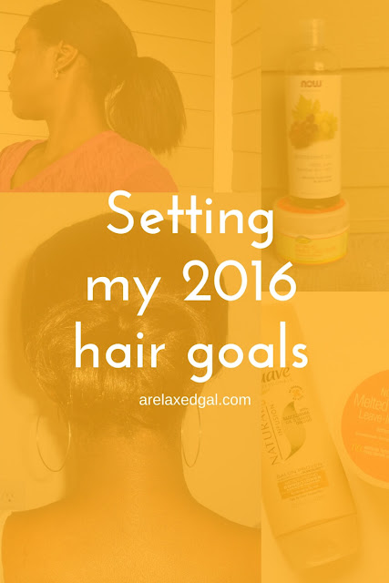 Setting yearly hair goals for my hair | arelaxedgal.com