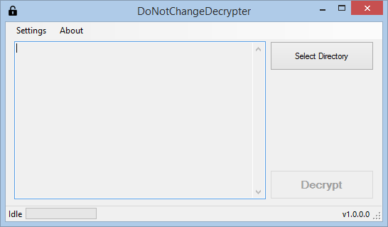 DoNotChangeDecrypter