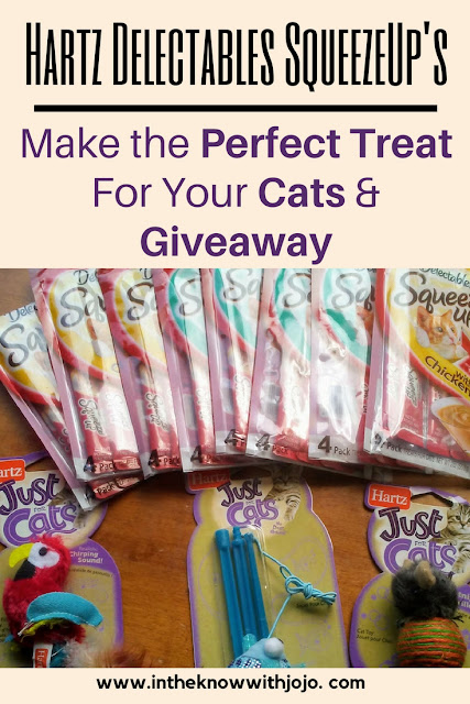 Few more days left to #enter #Hartz Delactabe Squeeze Up's Cat Treats 8 Pack and assorted cat toys #giveaway!