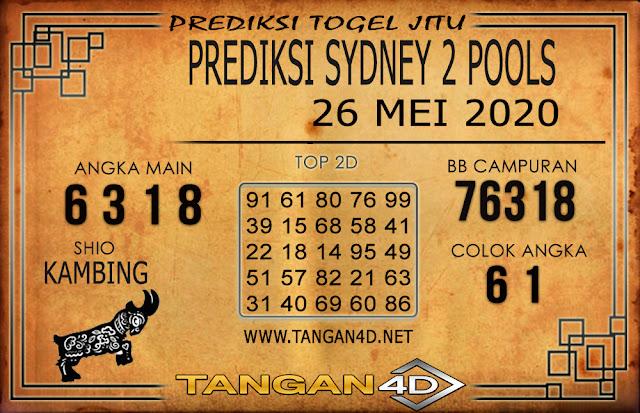 PREDIKSI TOGEL SYDNEY 2 TANGAN4D 26 MEI 2020