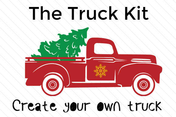Where To Find Free Christmas Themed Little Red Truck Svgs