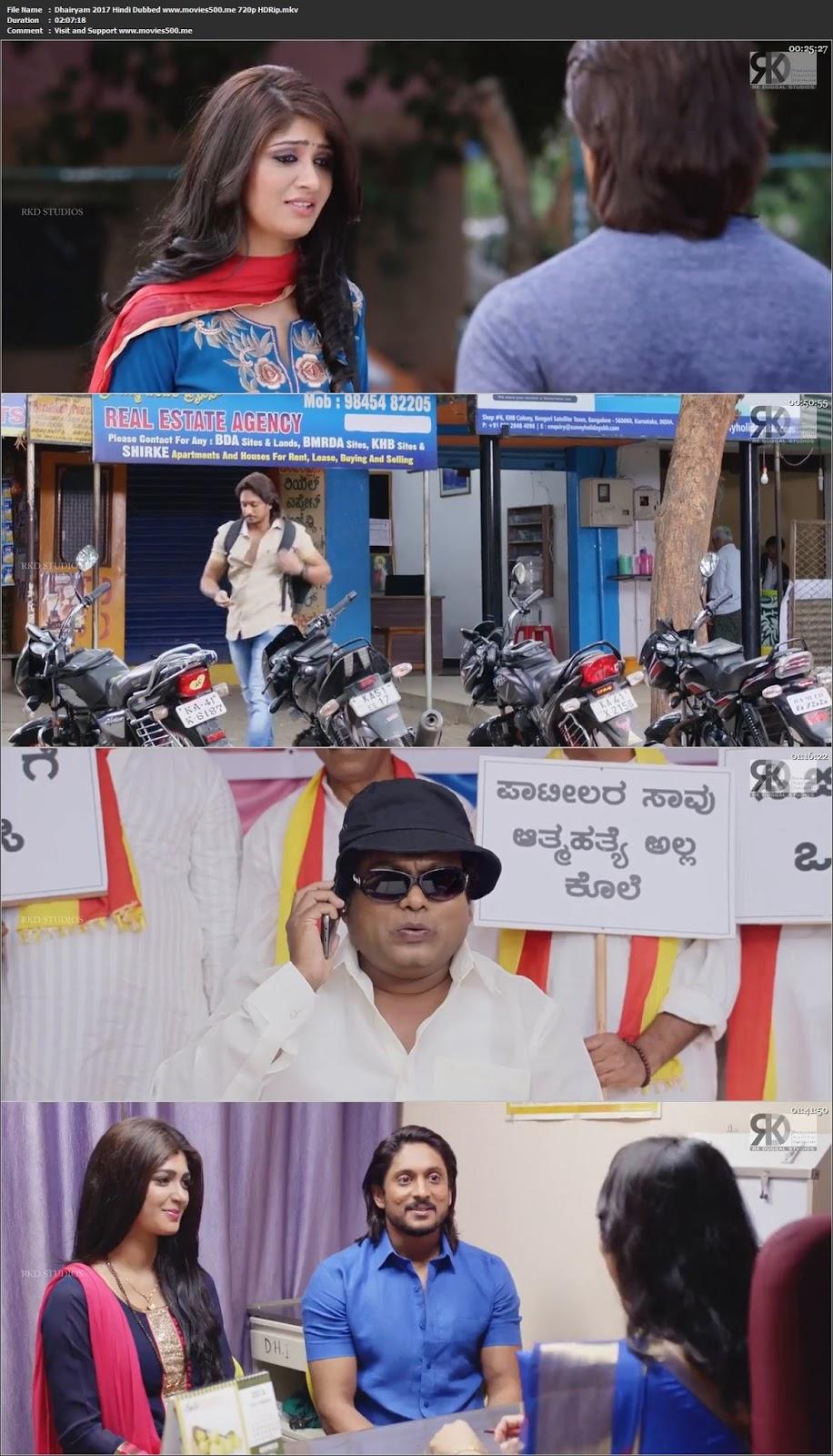 Dhairyam 2017 Hindi Dubbed Full Movie HDRip 720p at movies500.me