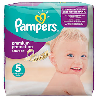 Discount Nappies 38% PAMPERS PREMIUM PROTECTION active fit, Size 5, 136 pcs, £20.40