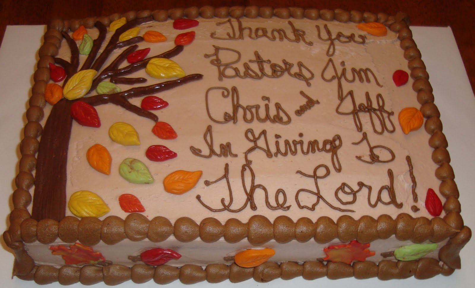 Pastor Appreciation Cake For The Pastors Of