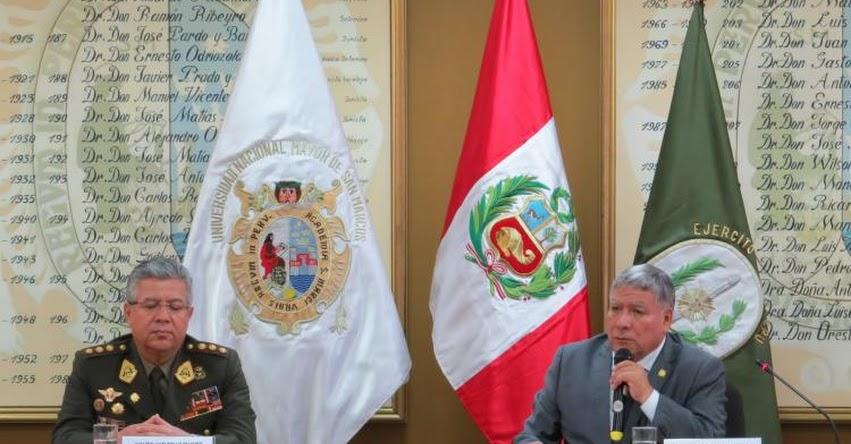 Bibliotecas del Ejército Peruano y de la Universidad San Marcos se unen en alianza estratégica