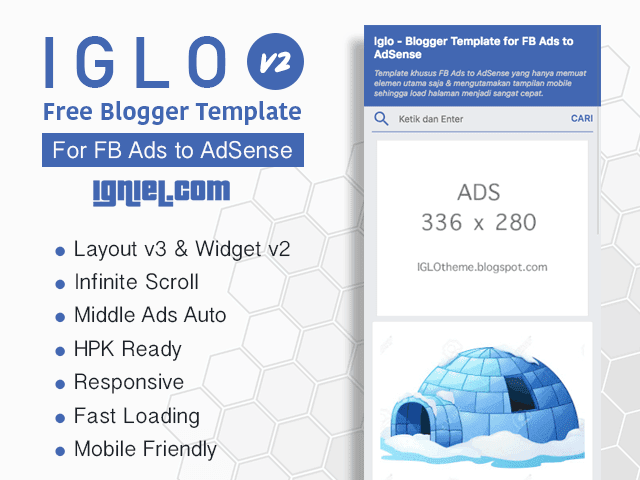 IGLO - Free Blogger Template for FB Ads To AdSense