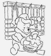 Top 10 Winnie The Pooh Christmas Coloring Pages