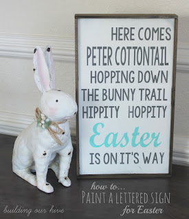 how to paint Easter sign