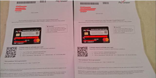 Request kartu payoneer