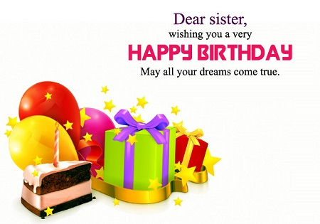 Happy Birthday Wallpaper for Sister