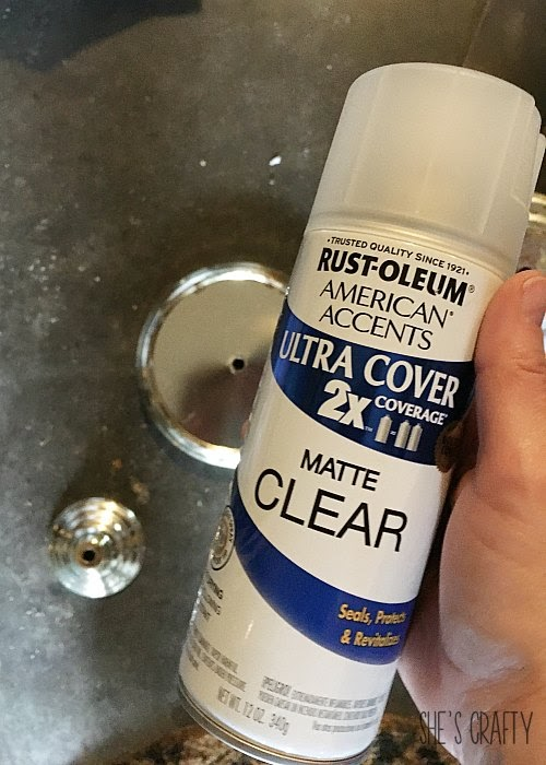 Use Matte finish spray to keep rust protected