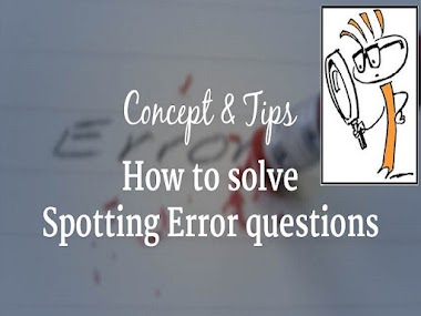 How to solve spotting the error questions in bank exam - Tips & Tricks