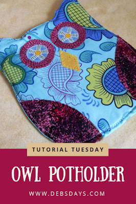 Homemade Owl Potholder Sewing Project