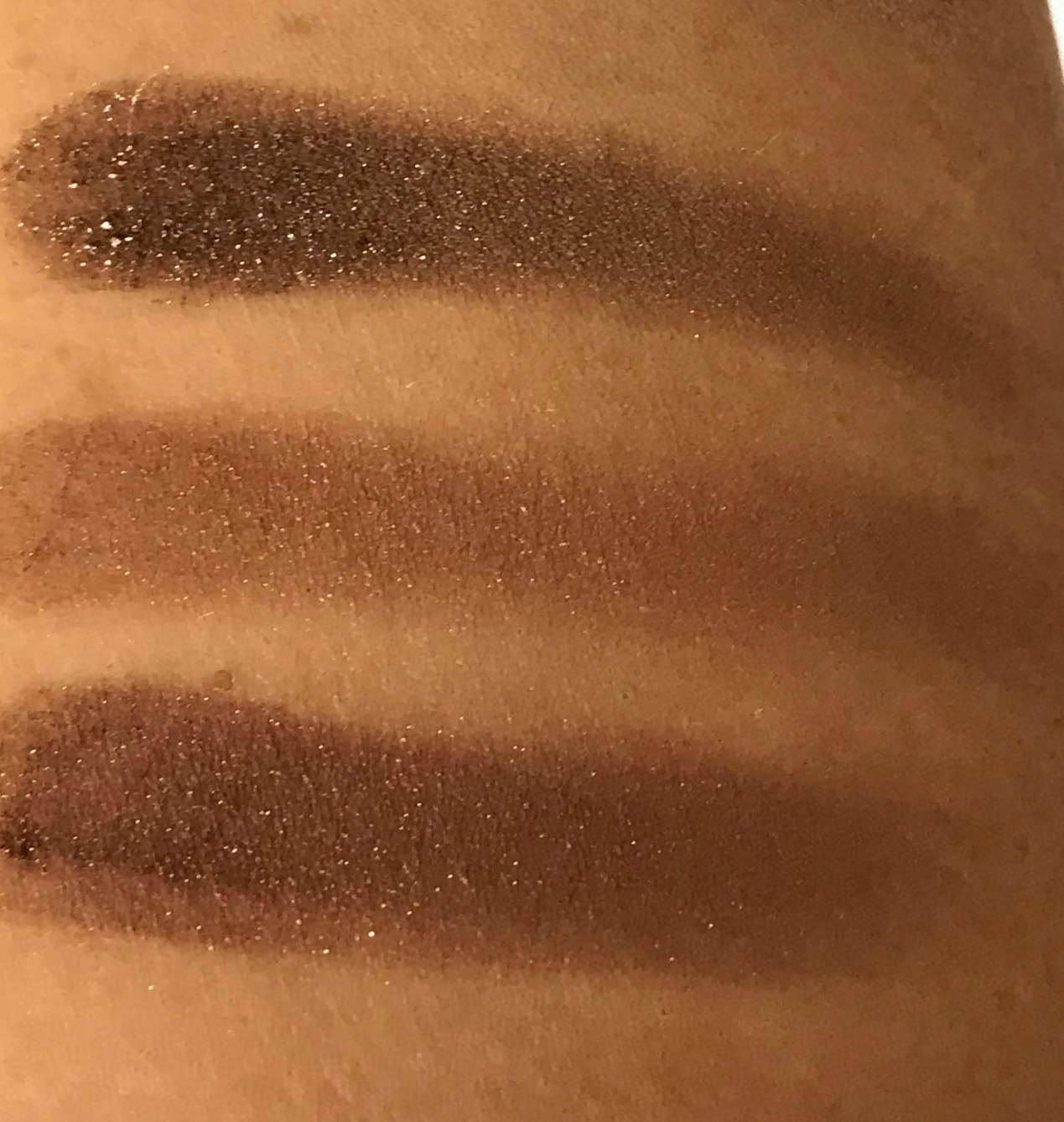 MAC Tempting, Bronze, Mulch Swatches