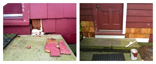 back steps wood rot before and after