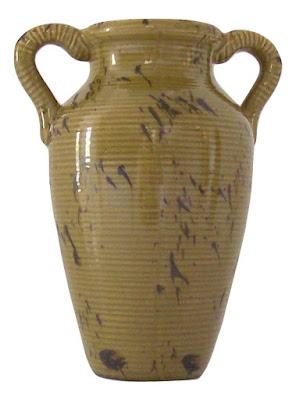 Asian Art Pottery Vase Amphora-Shaped