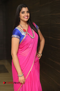 Anchor Shyamala Pictures in Pink Saree at Nandini Nursing Home Audio Launch  0041.JPG