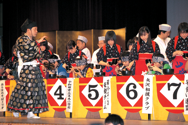 Wanko-Soba Eating Competition, Hanamaki City, Iwate Pref.