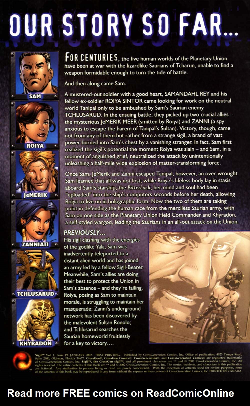 Read online Sigil (2000) comic -  Issue #19 - 2