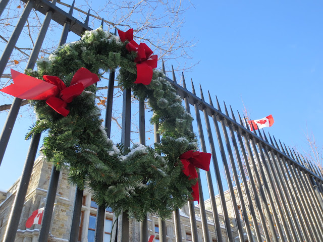 Christmas wreath, Canada
