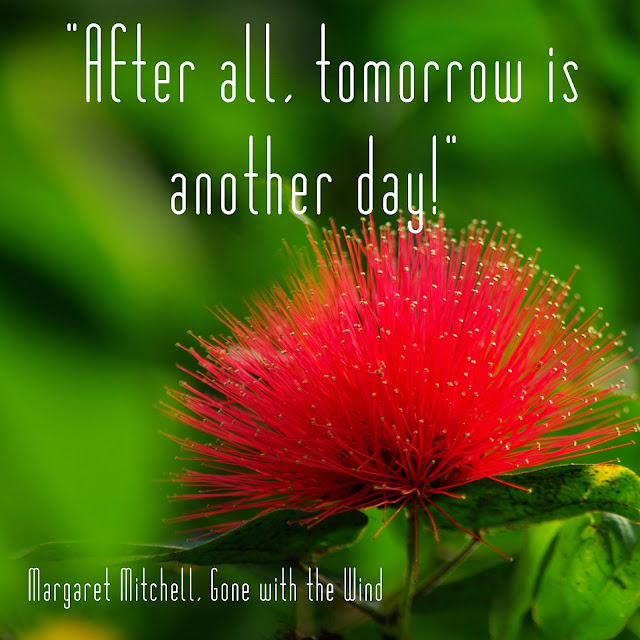 After all, tomorrow is another day. - Margaret Mitchell, Gone with the Wind