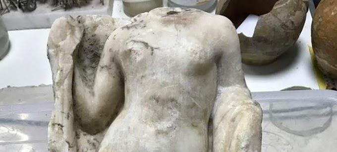 ΘΕΣΣΑΛΟΝΙΚΗ: Βρέθηκε άγαλμα της θεάς Αφροδίτης