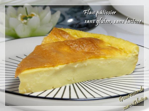 Flan pâtissier sans pâte, sans gluten, sans lactose