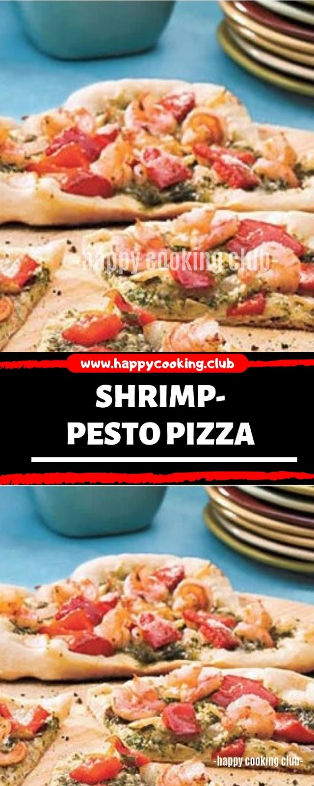 Shrimp-Pesto Pizza