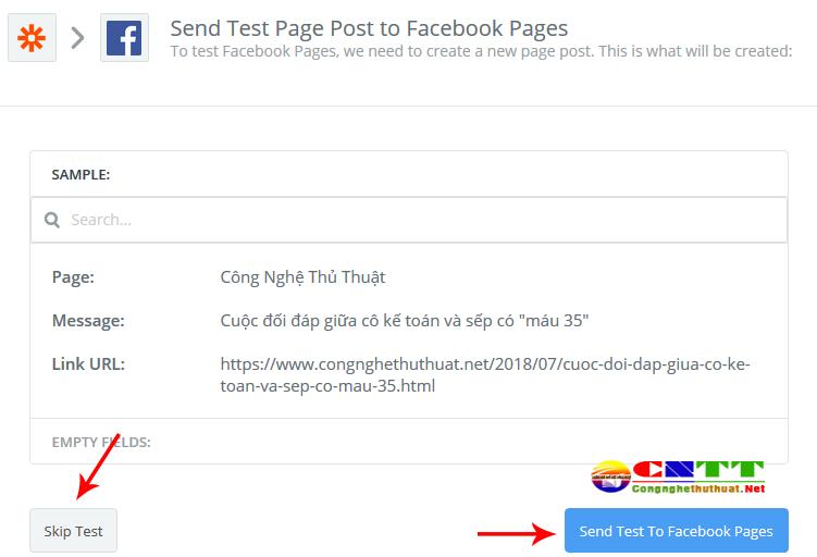 Cài đặt mẫu bài đăng tự động lên facebook