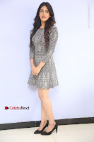 Actress Chandini Chowdary Pos in Short Dress at Howrah Bridge Movie Press Meet  0019.JPG