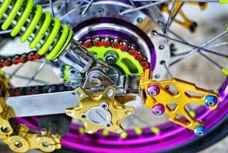 shockbreaker modifikasi roda motor