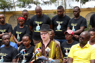 Ruiru aspirants Isaac Mwaura and his opponent Simon King'ara went face to face yesterday in the Jubilee polls. PHOTO | Courtesy
