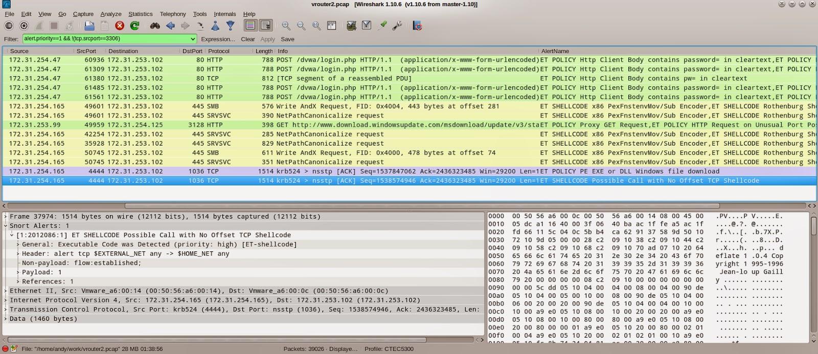 IDSUtil and Wireshark Alert plugin